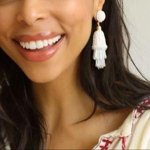 Panacea white beaded earrings.